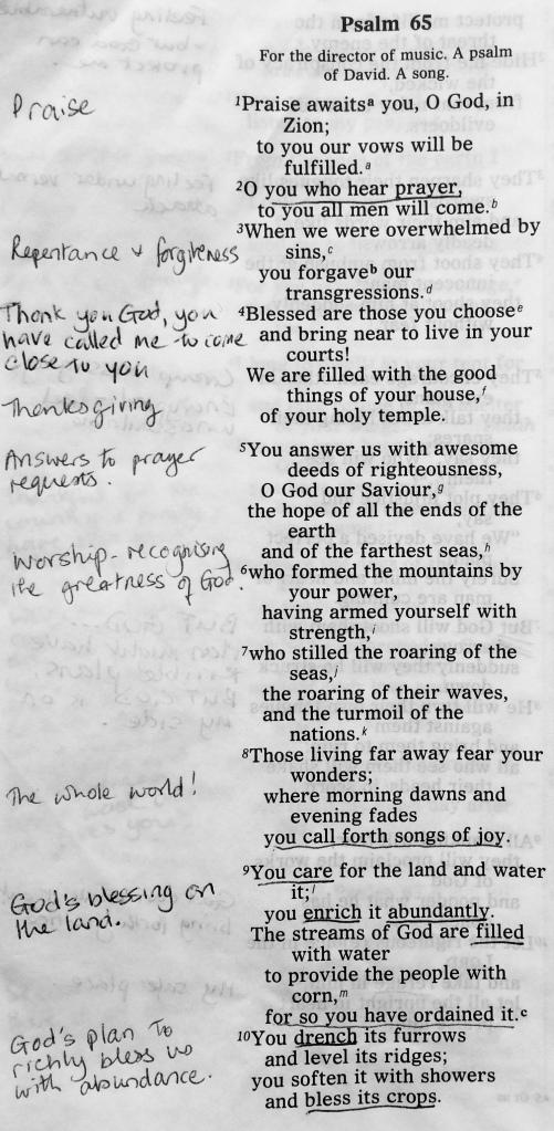 Psalm 65:1-10